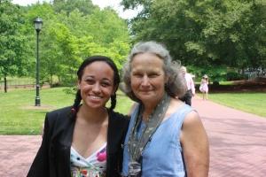 Alex and her fav teacher Dr. Eloise Carter